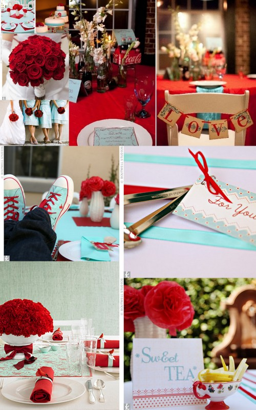 Teal, Red, Wedding, Event, Inspiriation Board, Wedding 101, Nashville, TN