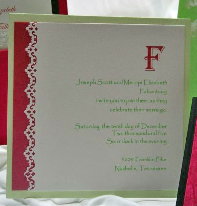 By Heart and By Hand, Wedding Invitation, Pink, Green, White, Wedding 101