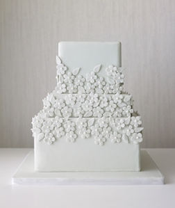 Grey White Wedding Cake