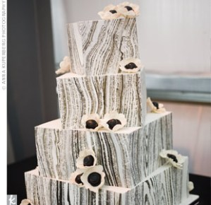 Faux Wood, Faux bois Wedding Cake