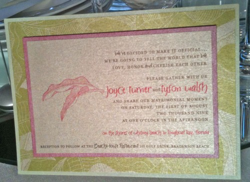 Prim and Paper, Wedding Invitation, Pink, Green, Iridescent, Wedding 101