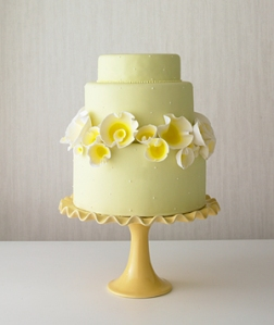 yellow wedding cake