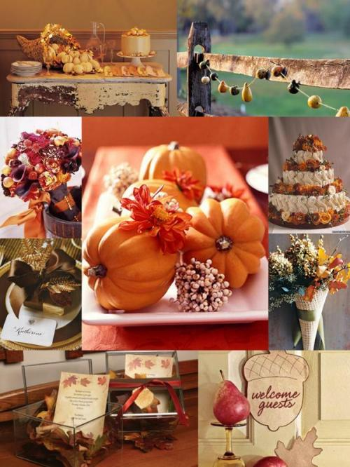 Inspiration Board Thanksgiving, wedding, orange, brown, wedding 101
